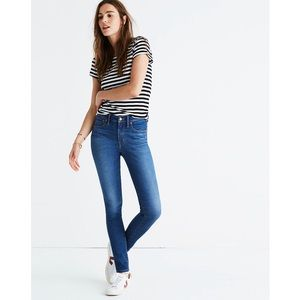 """Madewell Tall 9"""" Mid-Rise Skinny Jeans— Patty Wash"""